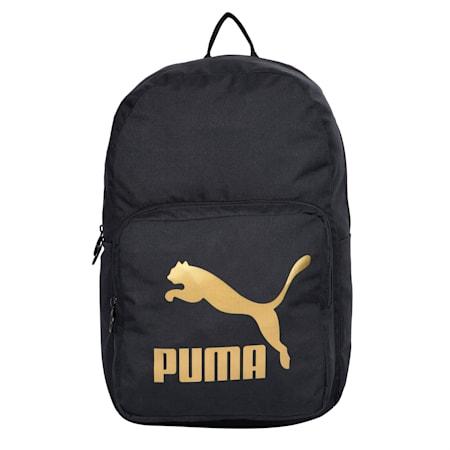 Originals Backpack, Puma Black-Gold, small-IND