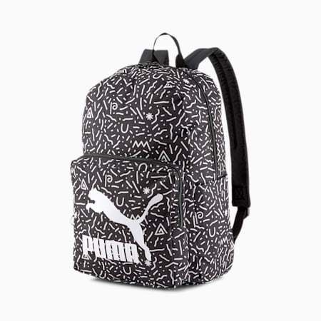 Originals Backpack, Puma White-Doodle Graphic, small