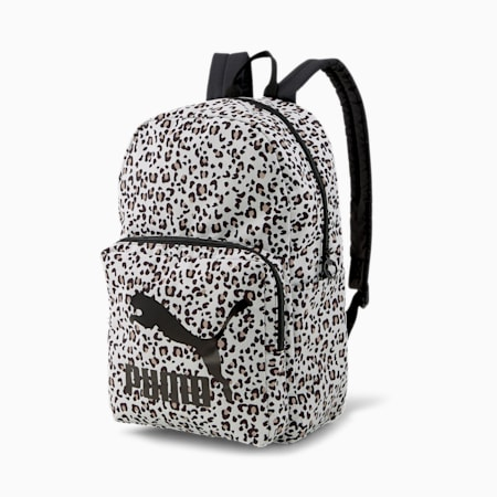 Originals Backpack, Puma White-animal graphic, small