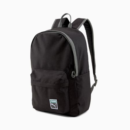 Originals Retro Backpack, Puma Black-heather, small-GBR