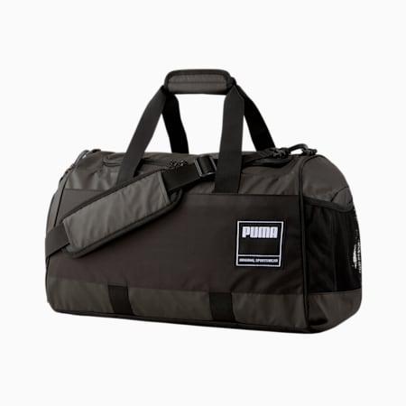 PUMA Unisex Gym Duffle Bag, Puma Black, small-IND