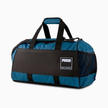 Bolso de lona mediano Gym, Digi-Azul-Puma Black, pequeño