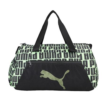 Essentials Barrel Bag, Puma Black-Fizzy Yellow, small-IND