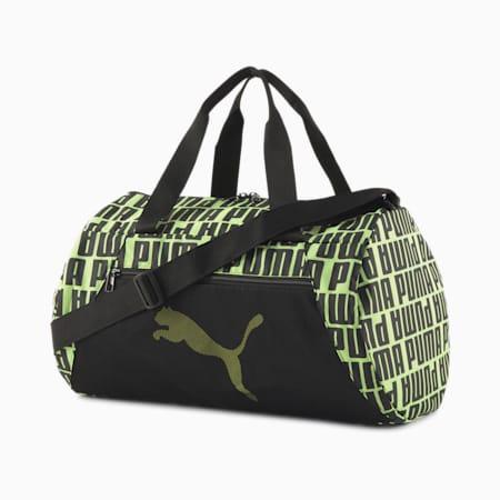 Essentials Barrel Bag, Puma Black-Fizzy Yellow, small