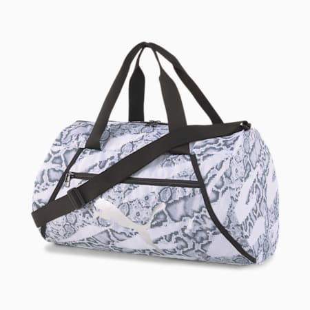 Essentials Barrel Bag, Puma White-untamed, small-IND