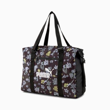 Seasonal Duffle Women's Bag, Puma Black-AOP, small