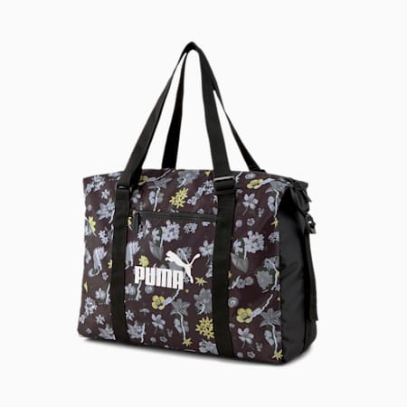Sezonowa damska torba sportowa, Puma Black-AOP, small