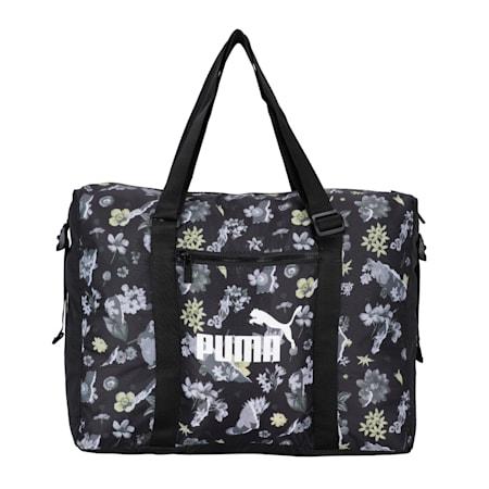 Seasonal Duffle Women's Bag, Puma Black-AOP, small-IND