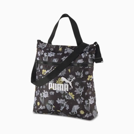 Seasonal Women's Shopper, Puma Black-AOP, small-IND