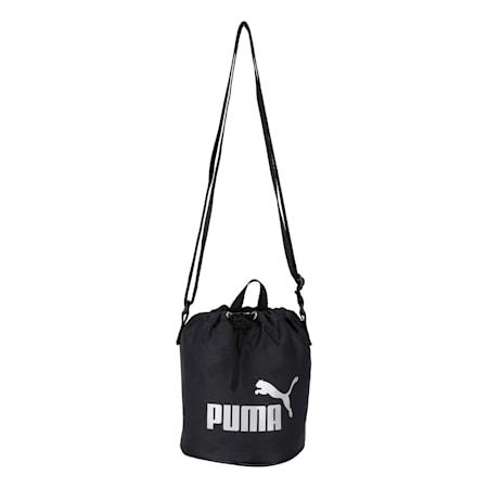 Core Small Women's Bucket Bag, Puma Black, small-IND