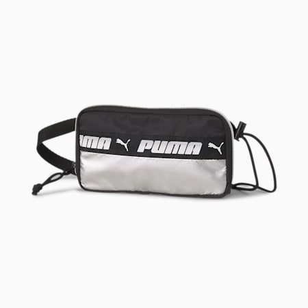 Mile Rider Women's Sling Pouch, Puma Black-Silver, small-IND