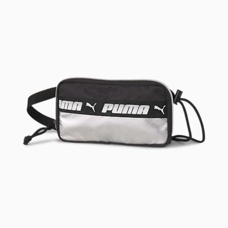 Mile Rider Women's Sling Pouch, Puma Black-Silver, small-SEA