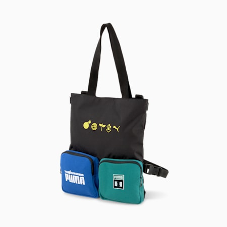 PUMA x THE HUNDREDS Convertible Bag, Puma Black, small-SEA