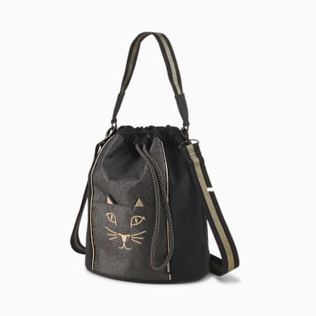 PUMA x CHARLOTTE OLYMPIA Bucket Bag, Puma Black, small