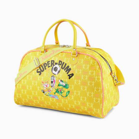 푸마 x 키드슈퍼 그립 백/PUMA x KIDSUPER Grip Bag, CeylonYellow-MellYellow-Rose, small-KOR