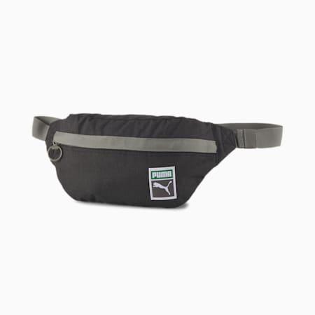 Originals Retro Waist Bag, Puma Black-heather, small-GBR