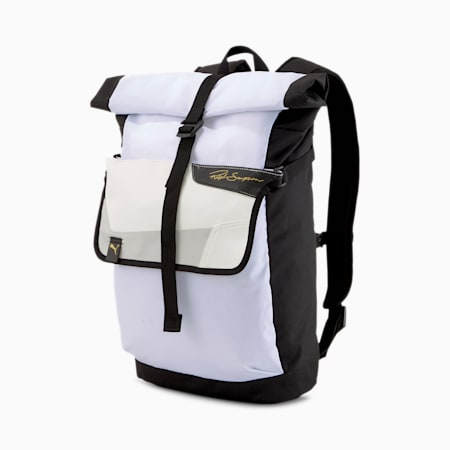 Ralph Sampson Rolltop Backpack, Puma White-Puma Black, small-IND