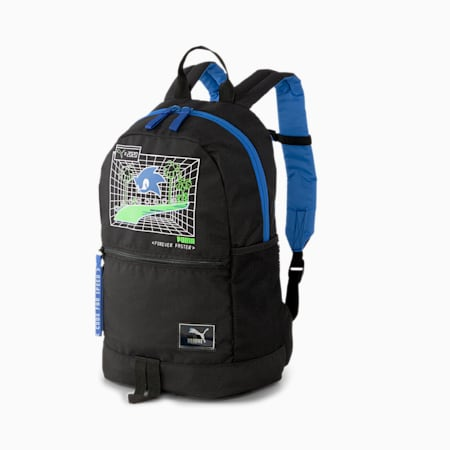 PUMA x SEGA Kids' Backpack, Puma Black, small-SEA