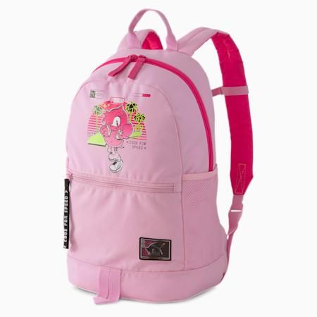 Mochila PUMA x SEGA para niño, Pale Pink-lilac sachet, small