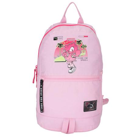 PUMA x SEGA Reflective Tec Kids' Backpack, Pale Pink-lilac sachet, small-IND