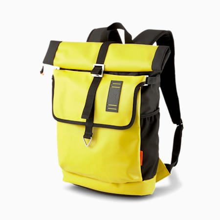 PUMA x CENTRAL SAINT MARTINS Rolltop Backpack, Super Lemon, small