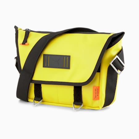 PUMA x CENTRAL SAINT MARTINS Messenger Bag, Super Lemon, small-SEA
