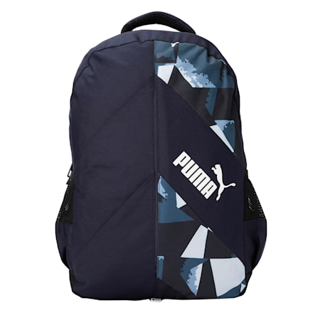 PUMA Derby Unisex Backpack, Peacoat-Puma Black, small-IND
