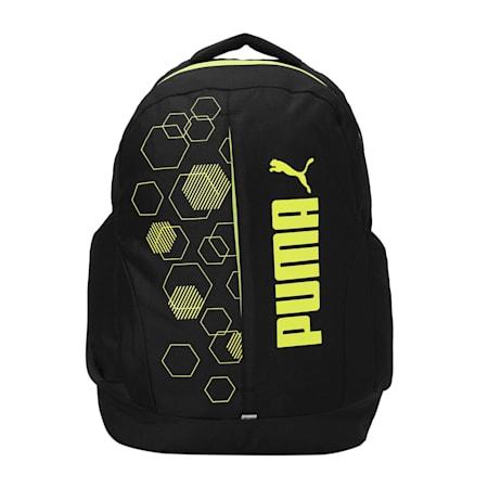 PUMA Urban Unisex Backpack, Puma Black-CASTLEROCK, small-IND