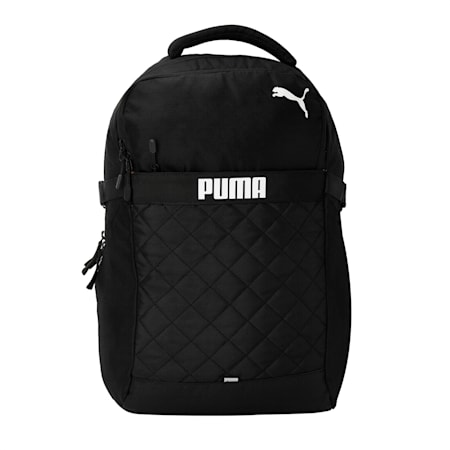 PUMA Citrus Unisex Backpack, Puma Black-CASTLEROCK, small-IND