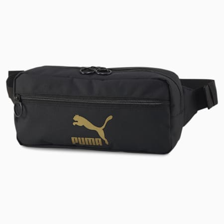 오리지널스 웨이스트 백/Originals Waist Bag, Puma Black-Gold, small-KOR