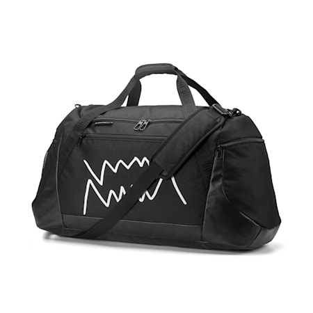 PUMA Basketball Large Duffle Bag, Puma Black, small