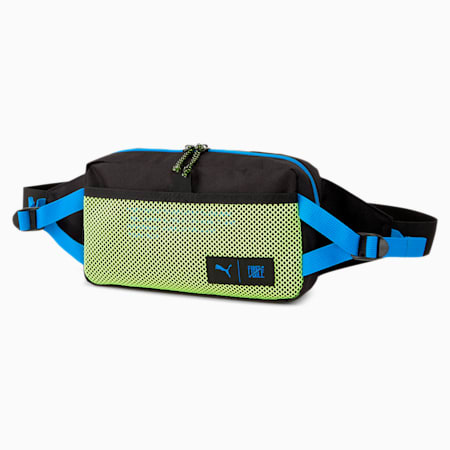 PUMA x FIRST MILE Waist Bag, Black-Nrgy Blue-Fizzy Yellow, small