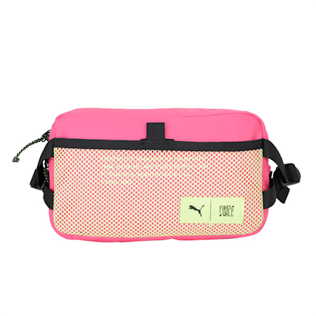 PUMA x FIRST MILE Waist Bag, Black-Pink-Fizzy Yellow, small-IND
