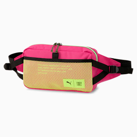 PUMA x FIRST MILE Waist Bag, Black-Pink-Fizzy Yellow, small