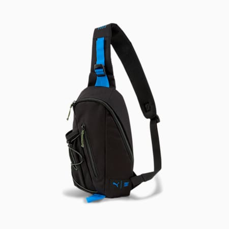PUMA x FIRST MILE Cross Body Shoulder Bag, Black-Nrgy Blue-Fizzy Yellow, small-SEA