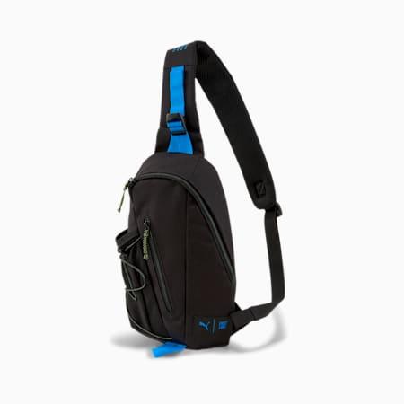 PUMA x FIRST MILE Crossbody Bag, Black-Nrgy Blue-Fizzy Yellow, small-SEA