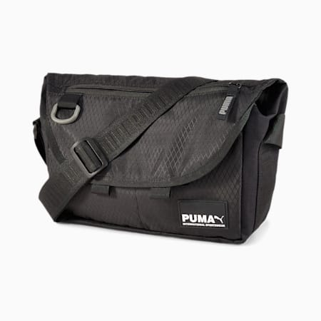 Street Messenger Bag, Puma Black, small