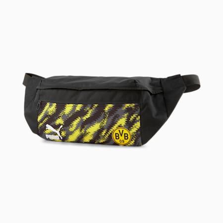 BVB Iconic Street Football Waist Bag, Puma Black-Cyber Yellow, small