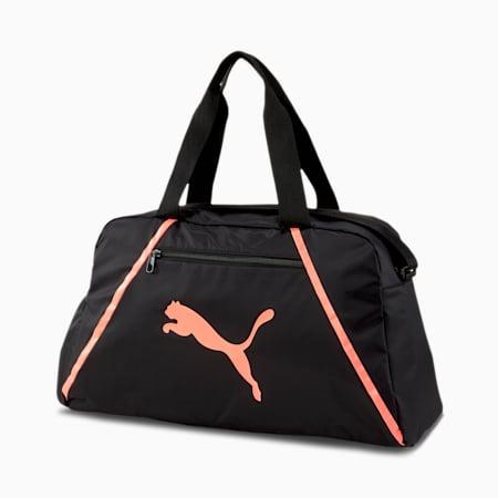 Essentials Pearl Women's Training Grip Bag, Puma Black-Nrgy Peach, small