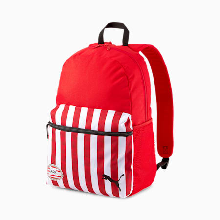 PSV Eindhoven Football Backpack, High Risk Red-Puma White, small