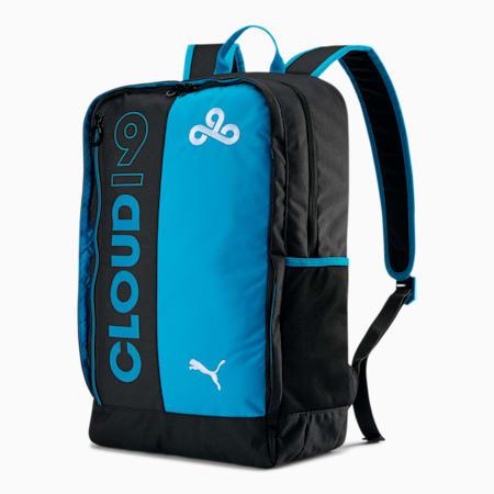 PUMA x CLOUD9 Backpack, Puma Black-Hawaiian Ocean, small
