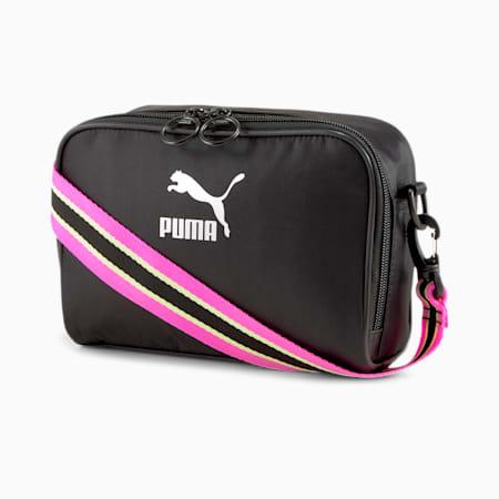 Prime Fluo Women's Shoulder Bag, Puma Black, small-IND