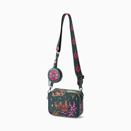 PUMA x LIBERTY Mini X-Body Women's Bag, Green Gables-AOP, small