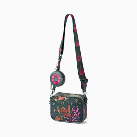 PUMA x LIBERTY Mini X-Body Women's Bag, Green Gables-AOP, small-GBR