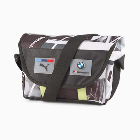 BMW M Motorsport Street mini-koerierstas, Puma Black, small