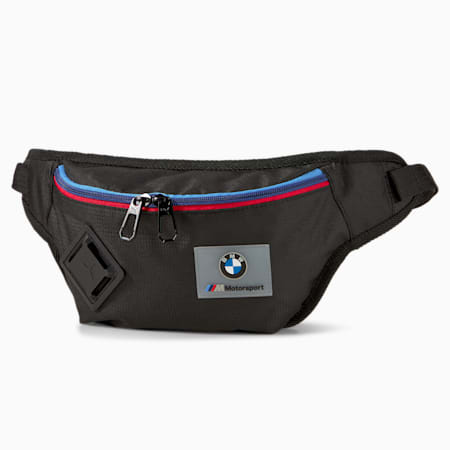 BMW M Motorsport Waist Bag, Puma Black, small