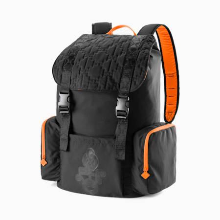 PUMA x PRONOUNCE Backpack, Puma Black-Vibrant Orange, small