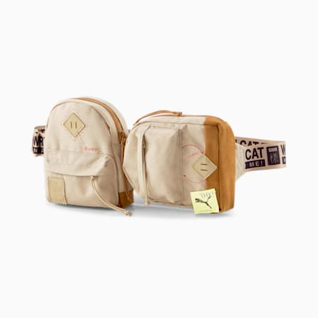 PUMA x MICHAEL LAU Waist Bag, Safari-Chipmunk, small