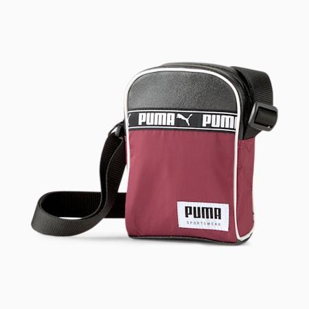 Campus Compact Portable Bag, Zinfandel-Puma Black, small-IND