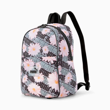 Pop Women's Backpack, Puma Black-floral graphic, small-GBR